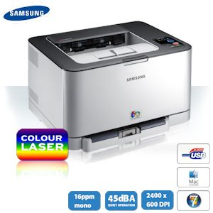 Samsung CLP-320 Farblaserdrucker- gestochen scharfe Farbwiedergabe und stilvolles Erscheinungsbild bei hoher Druckgeschwindigkeit