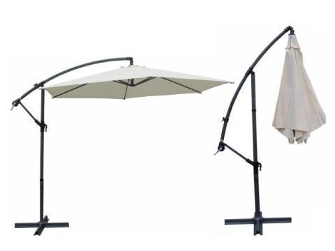 alu ampelschirm 3m mit schutzh lle und st nder f r 49 99. Black Bedroom Furniture Sets. Home Design Ideas