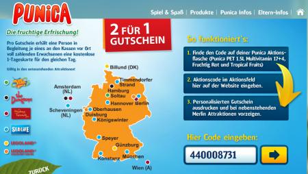 2 für 1 Freizeitpark Tickets bei Punica MonsterDealz.de