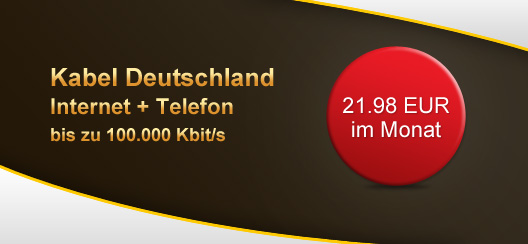 kabel deutschland mit 100mbit s internetflat festnetzflat dank cashback f r effektiv 21 98. Black Bedroom Furniture Sets. Home Design Ideas