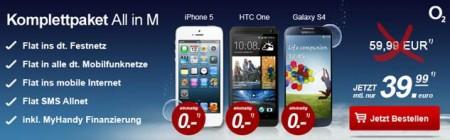 O2 Blue All In M Vertrag Mit Festnetznummer Einem Smartphone Für