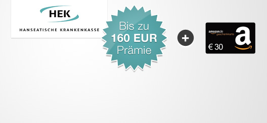 hek krankenversicherung bis zu 160 50 bonus 30 amazon gutschein. Black Bedroom Furniture Sets. Home Design Ideas