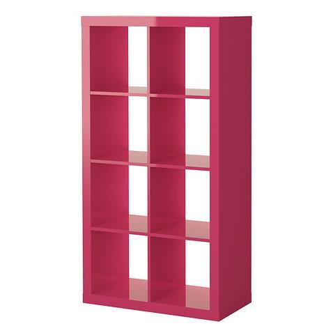 ikea expedit regal hochglanz rosa f r 49. Black Bedroom Furniture Sets. Home Design Ideas