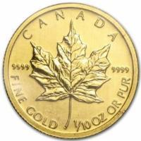 1/10 oz Gold Maple Leaf 5