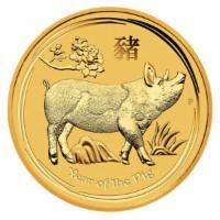1 oz Gold Lunar Schwein