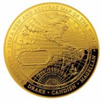 1 oz Gold Neue Weltkarte