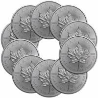 10x 1 oz Silber Maple