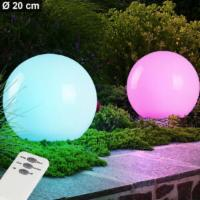 2x LED Solar Kugel Steck