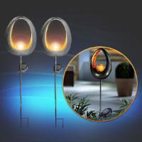 2x Solar Design LED Außen