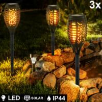 3er Set LED Solar Steck