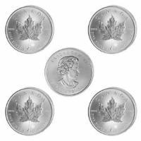 5 x 1 oz Silber Maple