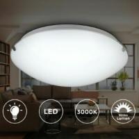 Deckenlampe LED rund Glas