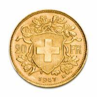 Gold Vreneli 20 Schweizer