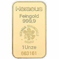 Goldbarren 1oz 31,1 Gramm