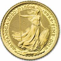 Goldmünze Britannia 2020