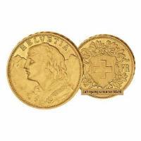 Goldmünze Schweiz 20 SFr