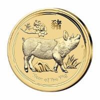 Lunar Schwein Gold 1/10