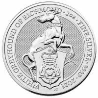 Silbermünze Der weiße