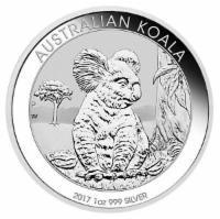Silbermünze Koala