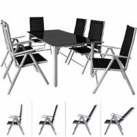Sitzgruppe 6+1 Alu