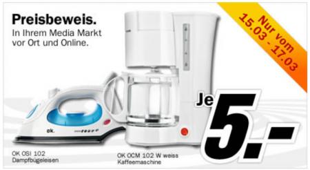 Bei MediaMarkt.de Gibt Es Ein Dampfbügeleisen Oder Eine Kaffeemaschine Für  Je 5u20ac Inklusive Versand. 🙂