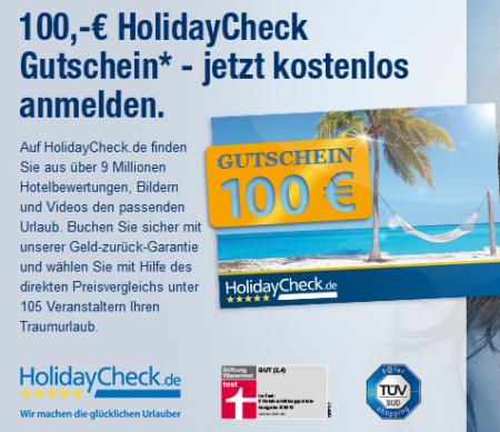 Holidaycheck 100€ gutschein