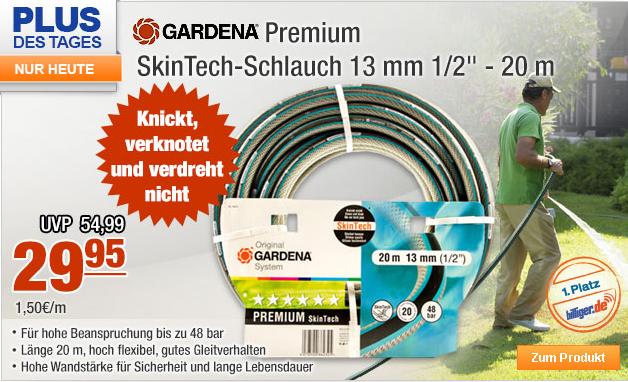 gardena 08623 20 premium 20m skintech schlauch f r 34 90. Black Bedroom Furniture Sets. Home Design Ideas