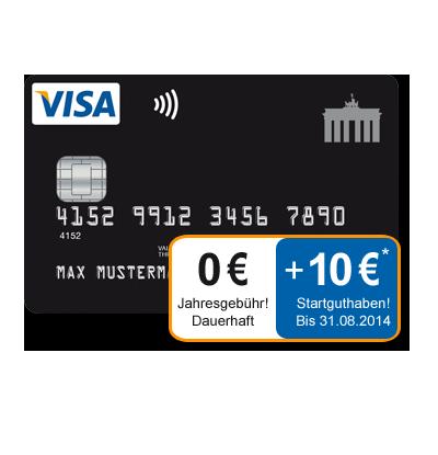 Dauerhaft Kostenlose Kreditkarte Mit 10 Start Guthaben