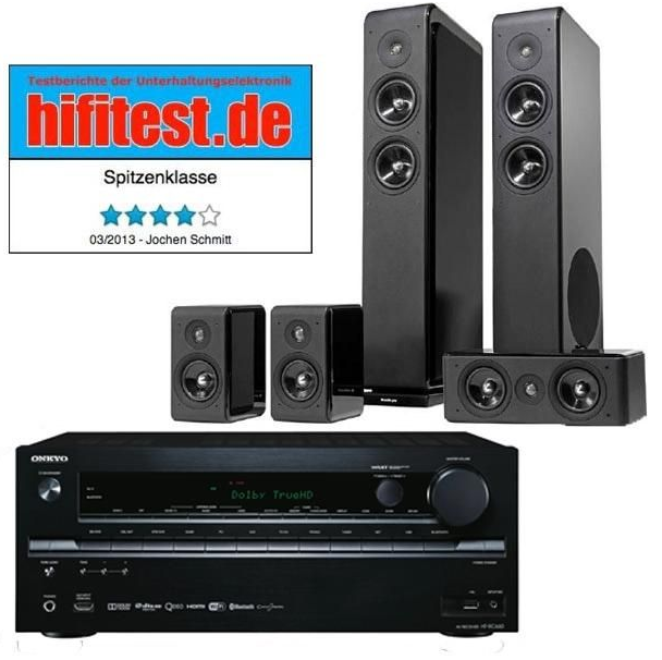 onkyo ht rc660 av receiver audio pro avanto 5 0 lautsprecher f r 749. Black Bedroom Furniture Sets. Home Design Ideas