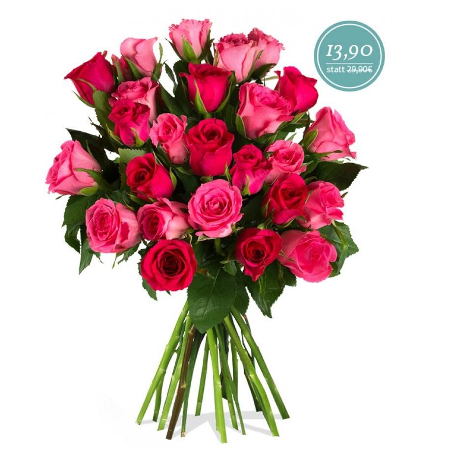 rosenstrau vivien mit 25 pinken rosen f r 19 80. Black Bedroom Furniture Sets. Home Design Ideas