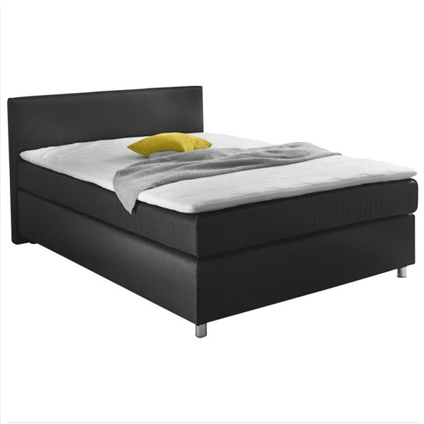 carryhome boxspringbett in textil schwarz f r 299 00. Black Bedroom Furniture Sets. Home Design Ideas