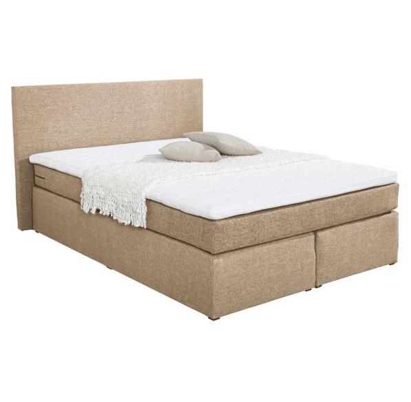 boxspringbett virginia hellbraun f r 299. Black Bedroom Furniture Sets. Home Design Ideas