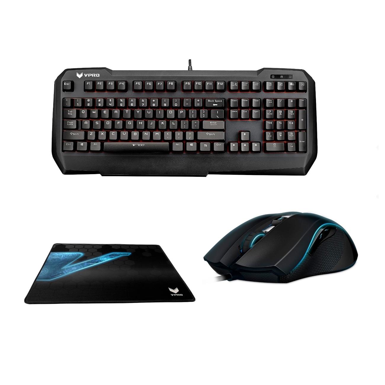 rapoo vpro bundle v700 mechanische tastatur v900 laser maus und v1000 mauspad f r 71 99. Black Bedroom Furniture Sets. Home Design Ideas