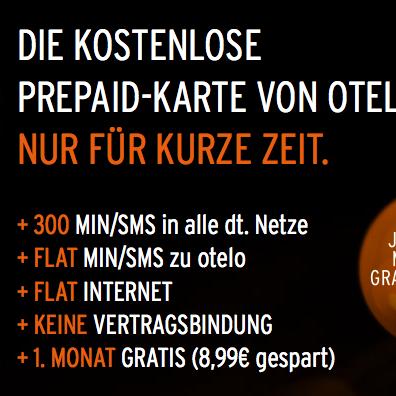 Otelo Sim Karte Aktivieren.Otelo Kostenlose Prepaid Sim Karte 300 Minuten Sms Und 300mb Im 1