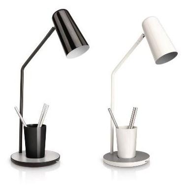 2x philips myhomeoffice schreibtischleuchten schwarz und wei f r 26 90. Black Bedroom Furniture Sets. Home Design Ideas