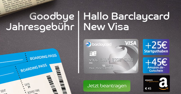 letzte chance 70 pr mie f r geb hrenfreie barclaycard new visa kreditkarte. Black Bedroom Furniture Sets. Home Design Ideas