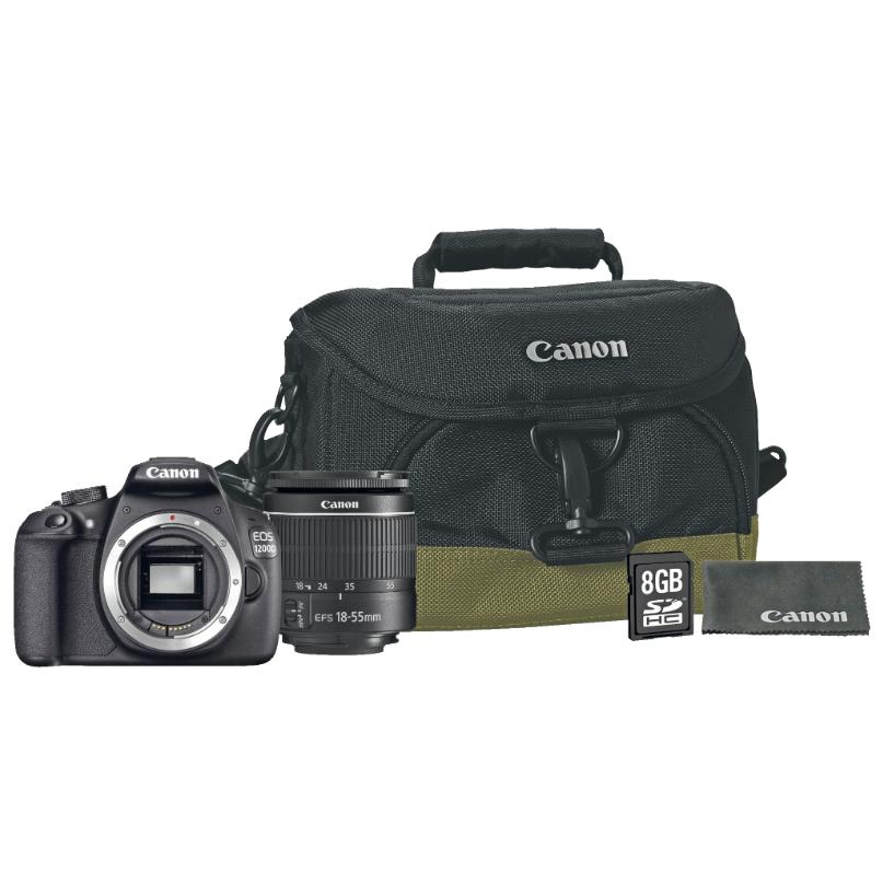 canon eos 1200d kit 18 55mm mit 18mp dslr mit tasche und. Black Bedroom Furniture Sets. Home Design Ideas
