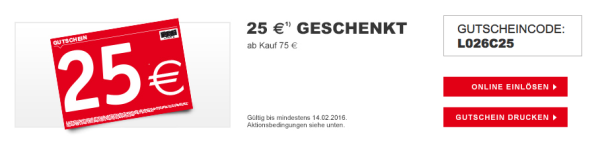 xxxl shop 25 gutschein 75 mbw. Black Bedroom Furniture Sets. Home Design Ideas