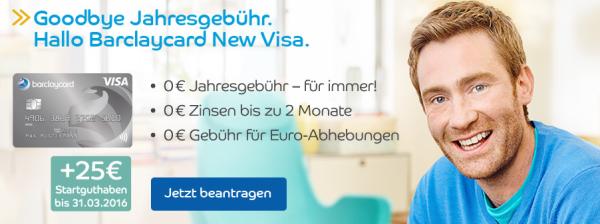 kostenlose barclaycard new visa mit 25 startguthaben. Black Bedroom Furniture Sets. Home Design Ideas