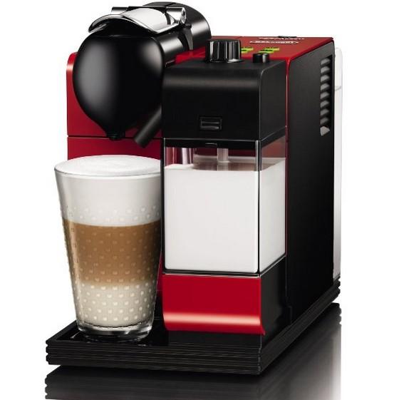 delonghi en 521 nespresso lattissima kapselmaschine in rot inkl 100 kapseln f r 164. Black Bedroom Furniture Sets. Home Design Ideas