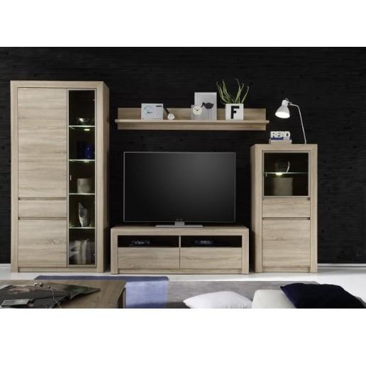 top trendteam 1415 973 45 wohnwand kombination sevilla 318 x 200 x 51 cm f r 299 22. Black Bedroom Furniture Sets. Home Design Ideas