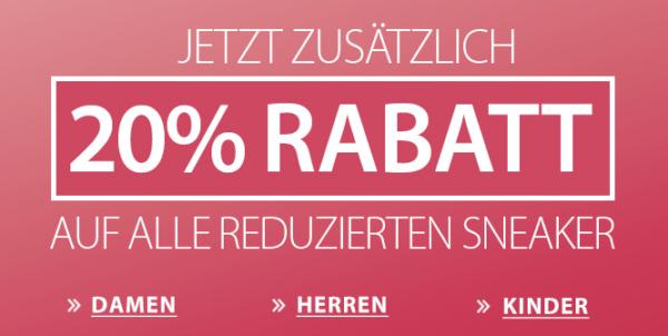 20% Rabatt auf alle Sneaker bei ROLAND Schuhe