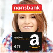*KNALLER* norisbank Girokonto (komplett kostenlos + Kreditkarte) + 75€ Amazon.de-Gutschein*