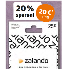 20 rabatt auf zalando geschenkguthabenkarte bei rewe. Black Bedroom Furniture Sets. Home Design Ideas