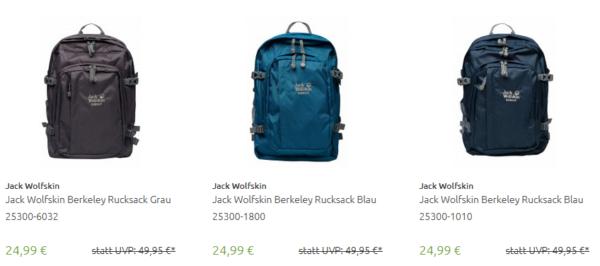 Jack Wolfskin Berkeley Rucksack (verschiedene Farben) für 24