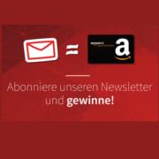 Newsletter abonnieren und einen von fünfzig 5€ Amazon.de Gutscheine gewinnen