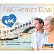 *TOP* 2 Übernachtungen im A&O Hotel Venedig für 49€ (2 Erwachsene inkl. 2 Kinder möglich)