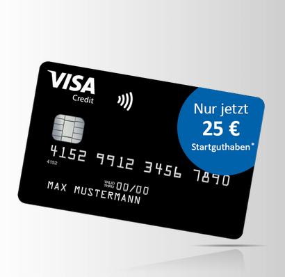 tipp dauerhaft kostenlose deutschland kreditkarte mit 25 startguthaben als pr mie. Black Bedroom Furniture Sets. Home Design Ideas