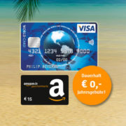 Kostenlose ICS Visa World Card sichern und 15€ Amazon.de-Gutschein erhalten