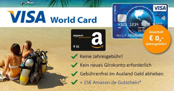 kostenlose ics visa world card sichern und 15 erhalten. Black Bedroom Furniture Sets. Home Design Ideas